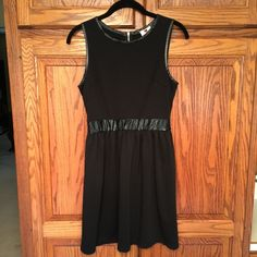 Perfect Little Black Dress Little Black Dress made by one clothing. Size M.  Black trim at the waist and arms, zipper back. Excellent condition! one clothing Dresses