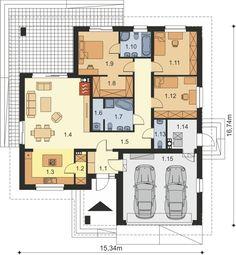 Beautiful House Plans, Dream House Plans, Modern House Plans, House Floor Plans, Small Floor Plans, Small House Plans, Bungalow House Design, Modern House Design, Building Design