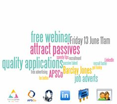 FREE Webinar for Recruiters: Job Adverts and Better Quality Applications  http://www.barclayjones.com/blog/social-media-for-recruiters/free-webinar-for-recruiters-job-adverts-and-better-quality-applications/