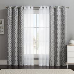VCNY 4-pack Barcelona Double-Layer Curtain Set