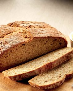 Traditional brown bread   FOOD AND WINE Wine Recipes, Bread Recipes, Baking Recipes, Brown Bread, Tray Bakes, Banana Bread, Vegetarian Recipes, Yummy Food, Vegetarische Rezepte