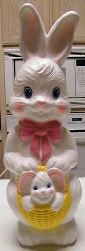 "Vintage 21"" Empire Easter Bunny Lighted Blowmold"