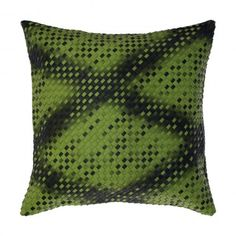"Faux Leather Basket Weave Luxury Green Decorative Cushion / Throw Pillow KURRI FOREST 18""X18""  #decorativepillow #throwpillow #cushion #cushioncover  #recycled #livingroom #bedroom #homedecor #green #forest  #fauxleather #mancave #rustic #masculine #pillow #basketweave #woven #luxury"