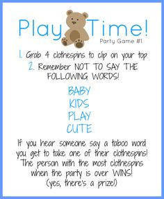 Free Printable With Instructions For Cute Baby Shower Games Via Glitter And  Bow Blog