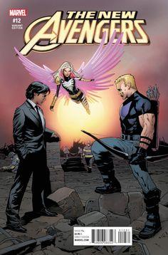 New Avengers Vol. 4 # 12 (Variant) by Greg Land Avengers 2015, New Avengers, Dark Horse, Comic Books, Marvel, Comics, Awesome, Disney, Cover