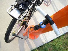 UTD - Bike Repair Station - Pumping Up by dickdavid, via Flickr