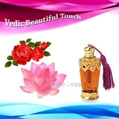 Vedic Beautiful Touch Attar, Vedic beautiful touch attar is a natural perfume extracted from flowers, spices, barks of some fragrance based trees and herbs into base oil such as rose, lotus oil. There are very few places in India where these kinds of pure Itar are manufactured.