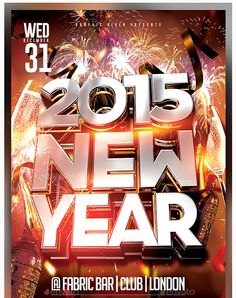 2015 New Year Flyer Template PSD - Party Flyer Templates For Clubs Business & Marketing