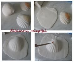 great way to make a polymer clay shell. #tutorial Could try this with air drying clay too