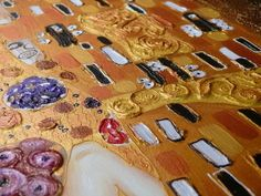 Gustav Klimt's paintings have a lot of surface texture