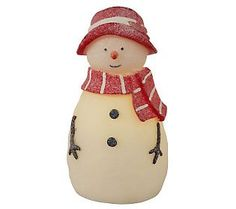 BethlehemLights BatteryOperated 9 Flameless Adult Snowman with Timer