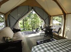 Ditch the Sleeping Bag and Go Glamping -- Glamorous Camping on San Juan Island