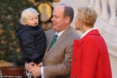 A doting Prince Albert could be seen wearing a festive Goofy tie to this afternoon's event