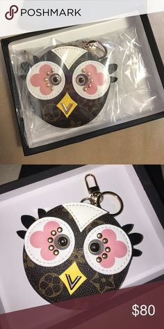HANDMADE Coin Purse Keychain This handmade sewing coin purse , this beautiful owl coin purse and also Keychain in one. Attach this to your favorite bag. ▪️Brand New ▪️Never Used ▪️No Trades▪️Don't like the Price ▪️Make an offer Accessories Key & Card Holders