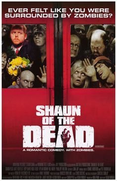 Shaun of the Dead Rom-Com with Zombies Movie Poster 11x17