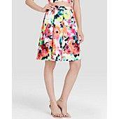 AQUA Skirt - Neon Floral Print via @jseverydayfash