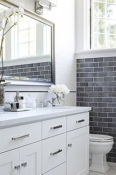 Great Contemporary Full Bathroom  love grey tiles and flooring