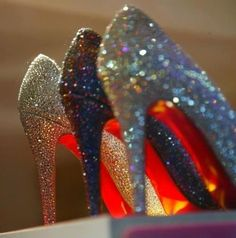 Bride And Bridesmaids Wedding Shoes ♥ Christian Louboutin Very Riche Glitter Wedding Shoes #1910194 - Weddbook