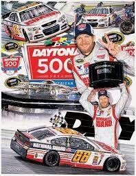 Sam Bass Art Dale Earnhardt Jr. Daytona 500
