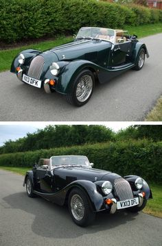 Our 2 brand new demonstrators: Morgan Roadster 3.7 and Morgan 4/4.  Fancy putting them through their paces?