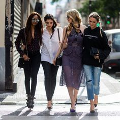 Fashion Week squad goals spotted at the ShopStyle Social House in Paris.