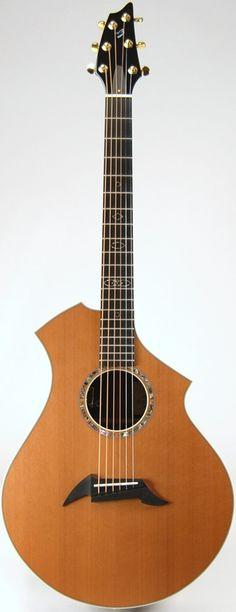 frettedchordophones: Breedlove CM Custom Master Class Asymmetrical Concert Guitar ==Lardys Chordophone of the day - 2 years ago --- https://www.pinterest.com/lardyfatboy/