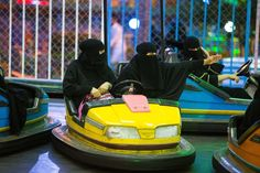 WHERE'S THE FEMINIST OUTRAGE? (CRICKETS) -- Saudi Arabian Women Love Bumper Cars (But Not for Bumping)