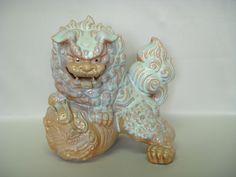 写真:窯変玉獅子置物