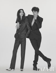 Kim Won Jung and Kwak Ji Young for Harper's Bazaar Korea August Photographed by Choi Yongbin Fashion Editorial Couple, Fashion Model Poses, Pre Wedding Poses, Pre Wedding Photoshoot, Couple Posing, Couple Shoot, Couple Photography Poses, Portrait Photography, Couples Modeling