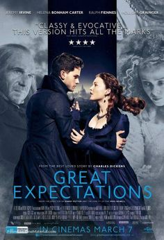 Ralph Fiennes, Helena Bonham Carter, Holliday Grainger, and Jeremy Irvine in Great Expectations Jeremy Irvine, Ralph Fiennes, Helena Bonham Carter, Good Movies To Watch, Great Movies, Netflix Movies, Movies Online, Love Movie, Movie Tv