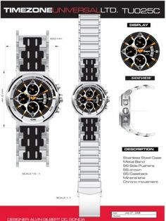 Time Zone Universal  LTD. Watches  designed by: Alvin Gilbert Dc. Gonda  abugonda@yahoo.com Design Development, Industrial Design, Behance, Concept, Graphic Design, Watches, Industrial By Design, Wristwatches, Clocks