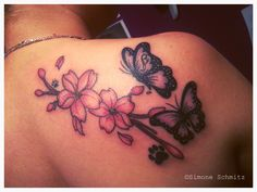 Flowers and butterflies tattoo, fun to do!