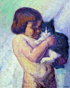 Child with cat - Emmanuel Zairis