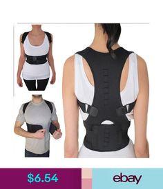 48b16bb1d4413 Posture Corrector Support Magnetic Back Brace Adjustable Shoulder Belt Men  Women  ebay  Fashion Posture