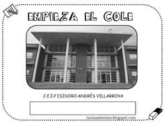 Proyecto el cole by Miren Pardo via slideshare Album, Signs, Learning, Phone, Murals, Gingham Quilt, Make A Book, Creative Writing, First Day