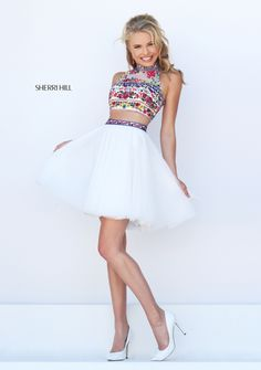 Sherri Hill dresses are designer gowns for television and film stars. Find out why her prom dresses and couture dresses are the choice of young Hollywood. Sherri Hill Short Dresses, Hoco Dresses, Dance Dresses, Pretty Dresses, Sexy Dresses, Beautiful Dresses, Fashion Dresses, Formal Dresses, Sherri Hill Homecoming Dresses