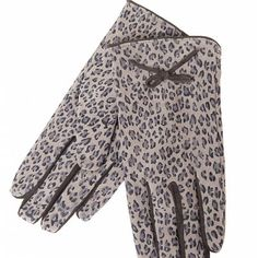 Luvas Animal Print Bege,  | Moda Online | Goodfashion