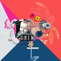 Grin by IntenseMagic using digital scrapbooking products from The Lilypad.