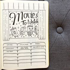 Movies To Watch . . . . . . . . . . . . . #bujo #bujospread #bujolove #bujolover #bujonewbie #bujojunkies #bujoinspire #bujoaddict…