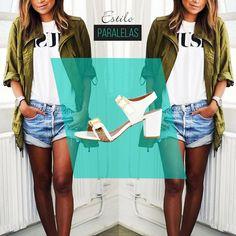 Shortinho jeans mais uma sandália com saltinho confortável! Combinação perfeita para se divertir!  #vidascomestilo #paralelascalcados #modaporprecojusto  #amosapatos #moda #shoes #love #instagood #fashion #estilo #instamood #instalove #welove #instashoes #trendalert #tendencia #conforto #cool #versatil #trend #amoguapa #sandalia #sandaliabranca