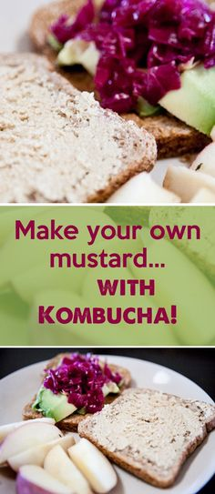 Kombucha Mustard Recipe: Its very simple to make and it comes out flavorful and much more enjoyable. It can still be somewhat intense depending on how hot your mustard seeds are. Kombucha, Lime Pickles, Mustard Recipe, Fermentation Recipes, Fermented Foods, Mediterranean Recipes, Yummy Food, Dishes, Baking