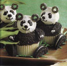Panda Bear Cupcakes by mudpiestudio, via Flickr