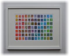 Used Postage Stamp Art Multi Colour Collage Picture Machin Definitives by StampCreationsUK on Etsy https://www.etsy.com/listing/218104706/used-postage-stamp-art-multi-colour