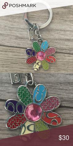"final priceCoach keychain Flower  Logo ""C"" Coach keychain, never used. Coach Accessories"