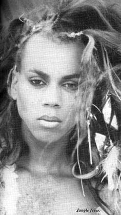 <3 RuPaul, 1984. I think she is even more beautiful here than in full drag. Feminine, masculine, it's immaterial here.