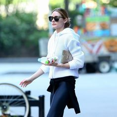 Olivia Palermo heads to the gym in New York City