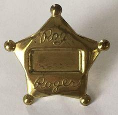 Vintage Roy Rogers Metal Star Kerchief Scarf Slide Ring Cowboy Western Monogram   eBay