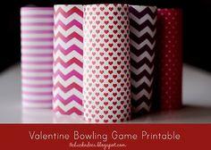three chickadees: valentine bowling game