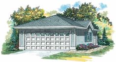 Eplans Garage Plan - Two-Car Garage Serves Well - 440 Square Feet and 0 Bedrooms from Eplans - House Plan Code HWEPL07745