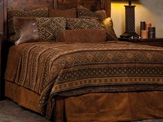 Boulder Bed Set. Add a rustic touch to the bedroom. Made in USA. $1425.